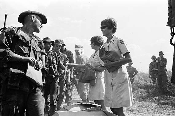 Judi and Char continue to personally give out the Ditty Bags to each soldier, making sure our men knew others cared and appreciated their every effort.  It's December 19, 1967 - a Christmas to remember.